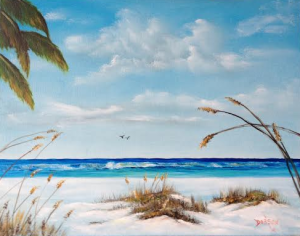 "Private Collection Of: Lisa & Darin Campbell Germantown, Wi ""Sea Oats On The Key"" #113714 - 16x20 $225"