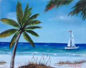"Private Collection Of: Don McCaskill & Gary Neve Siesta Key, Florida #115514 $75 ""Sailing On The Key"" 8x10"