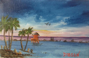 "Private Collection Of: Jane Richey Darien, Conn ""Red Life Guard Shack"" #116514 4x6"