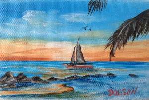 "Private Collection Of: Eileen Felix - Appleton, Wi ""Sailing"" #116714 - 4x6"