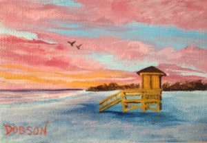 Private Collection Of: Kenda & Brian Friend #116814 - $30.00 Yellow Life Guard Shack 4x6