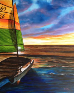 "Private Collection Of: Dan Caffrey Bronx, New York ""Catamaran On Siesta Key"" #117715 $395 28x34"