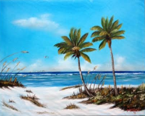 Private Collection Of: Horst & JoAnne Pachan Farmington, Michigan #119715 - $250.00 Siesta Key #1 Beach 16x20