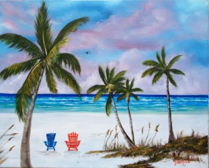 Private Collection Of: Keith McNulty Marietta, Georgia Paradise On The Key 16x20 - $250