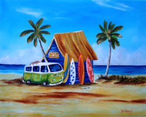 Private Collection Of: Shannon Hicks & Jaime Bryant Tampa, Florida #121715 - $250.00 My Surfin' Ride 16x20
