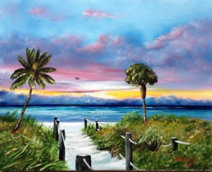 Private Collection Of: Glenn Kuemerle, DDS Avon Lake, Ohio Fog Rolling In On Siesta Key 16x20 - $250