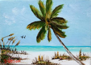 "Private Collection Of: Janice Warrington Wymau, Florida ""Siesta Beach Fun"" $40 - 5x7"