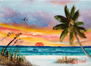 "Private Collection Of: Jane Ritchey Darien, Conn ""Red Sunset"" $40 5x7"