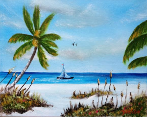 "Private Collection Of: Joyce Harvill Ft Meyers Beach, Florida ""Sailing In Paradise"" #123215 - $75 8x10"