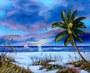 "Private Collection Of: Joe Zibik Palmer Ranch, Florida #123715 $75 ""A Tranquil Sunset"" 8x10"
