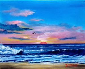 "Private Collection Of: Deborah & Bob Lang Jacksonville, Florida ""Sunset & The Surf"" #123815 - $75 8x10"