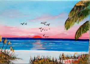 "Private Collection Of: Shelly & Sean McMonagle Boothwyn, Pa ""Sea Gulls on Siesta Key"" #124715 - $40 5x7"