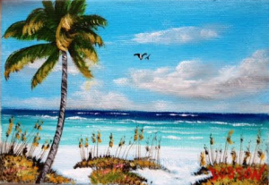 "Private Collection Of: Becky Day & Mike Haughey Wilmington, Delaware """"Siesta Beach"" #125315 - $75 5x7"