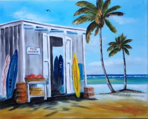 "Private Collection Of: Jake Bradenton, Florida ""Surf Shack On The Gulf"" #125815 - $250 16x20"