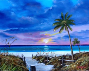 "Private Collection Of: Christy Kruger Crown Point, Indiana ""Access To The Beach"" #126015 $250 16x20"