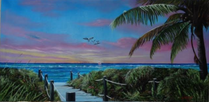 "Private Collection Of: Martin Pursley & Laurie Cheamitru Siesta Key, Fl ""Go This Way To The Beach"" #127115 $495 24""x48"""