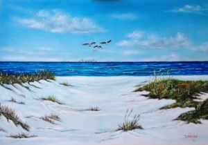 Private Collection Of: Heather Crespo Aiken, South Carolina Sea Gulls & Dunes #127215 $495 24x36: