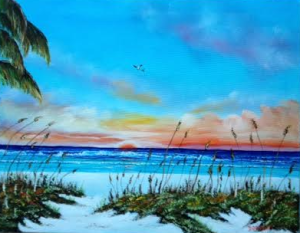 "Private Collection Of: Shelly & Sean McMonagle Boothwyn, Pa ""God's Pallette On Siesta Key"" #127515 - $250 16x20"