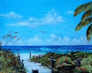 "Private Collection Of: Pat & Bob Jackson Ontario, Canada """"Access To The Beach"" #127715 - $250 16x20"