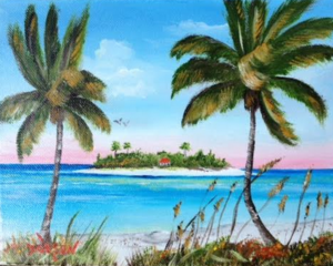 "Private Collection Of: Tom & Shawn Paulus Lakewood Ranch, Florida ""The Island"" $95 8x10"