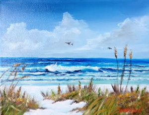 "Private Collection Of: Sue & Bob Wahalen Rockport, Maine ""At Siesta Key"" #128315 - $75 8x10"