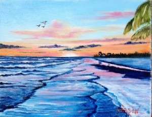 "Private Collection Of: Deborah & Bob Lang Jacksonville, Florida ""Another Siesta Key Sunset"" #128415 - $75 8x10"