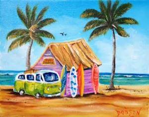 "Private Collection Of: Don McCaskill & Gary Neve Siesta Key, Florida #128515 $75 ""Surf Shack"" 8x10"