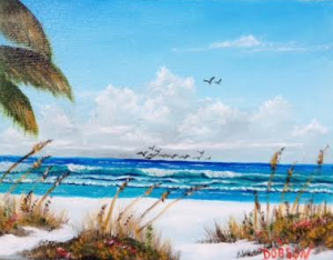 "Private Collection Of: Don McCaskill & Gary Neve Siesta Key, Florida #128615 $75 ""Sea Gulls On Siesta Key"" 8x10"