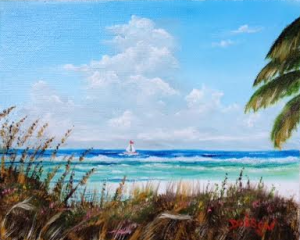 "Private Collection Of: Don McCaskill & Gary Neve Siesta Key, Florida #128715 $75 ""Siesta Key Sea Oats"" 8x10"