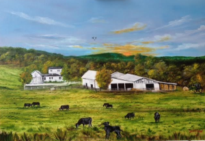 "Private Collection Of: Mike & Jenny Gillette Labadie, Missouri ""Our Farm"" - $495 24x36"