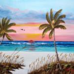 Art_-_#130615_-_Siesta_Key_At_Sunset_-_16x20