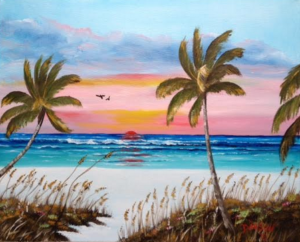 "Private Collection Of: Lisa & Mark Powers Greenwich, New Jersey ""Siesta Key At Sunset"" #130615 $250 16x20"