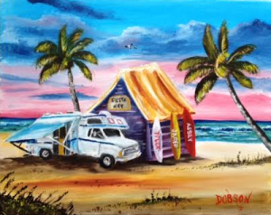 "Private Collection Of: Patty Ausnehmer North Lima, Ohio ""Our Camper In Paradise"" #130915 - $150 16x20"