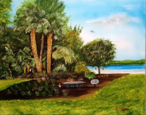 "Private Collection Of: Laura Lavelle Siesta Key, Florida ""Grappa's Garden"" #131515 - $250 16x20"