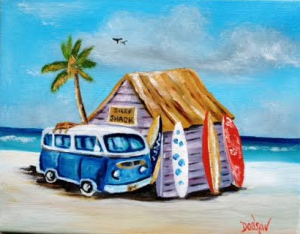 "Private Collection Of: John & Fofie Pappas Ypsilanti, Michigan ""Blue VW & Surf Boards"" #132415 $75 - 8x10"