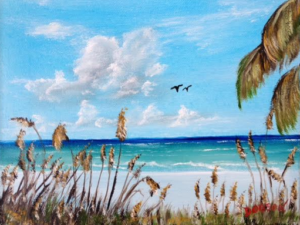 "Private Collection Of: Mark & Lisa Powers Camden, New Jersey ""Sea Oats On The Key"" #132515 $95 8x10"