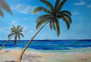 "Private Collection Of: Joy & Mike Woodhull Sarasota, Florida ""Paradise"" $490 #133215 24x36"