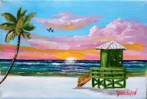 "Private Collection Of: Jane Ritchey Darien, Conn ""Siesta Key Sunset"" #133716 - $40 5x7"