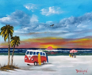 "Private Collection Of: Rob & Kim Trzecinski Sarasota, Florida ""Surfin' At Sunset"" #134416 $95 8x10"