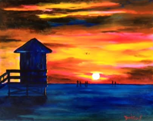 "Private Collection Of: Jane Ritchey Darien, Conn ""An Incredible Siesta Key Sunset"" #134816 - $250 16x20"