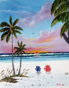 "Private Collection Of: Mark & Kathleen Williams Chestertown, New York ""Sunset On Siesta Key"" #134916 $250 16x20"