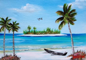 "Private Collection Of: Vivian Tamez Sarasota, Florida ""An Island In Paradise"" #135016 - $40 5x7"