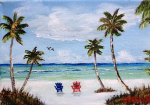 "Private Collection Of: Vivian Tamez Sarasota, Florida ""Living The Dream"" #135116 - $40 5x7"