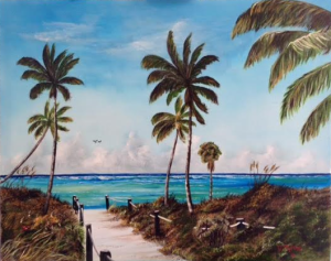 "Private Collection Of: Amanda Stewart Texas ""A Beach Access"" #135616 - $595 24x30"