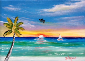 "Private Collection Of: Mike & Georgia Ribler Sarasota, Florida ""Sailing On The Key"" #135716 - $60 5x7"