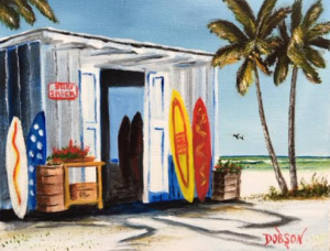 "Private Collection Of: Henry & Jessica Chang Tampa, Florida ""Surf Shack At The Beach"" #136316 - $80.00 8x10"
