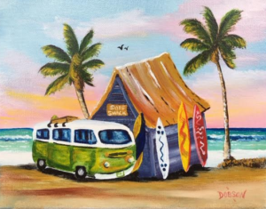 "Private Collection Of: Leslie & Dave Foltz Sarasota, Florida ""VW Van At Surf Shack"" #136616 - $95 8x10"