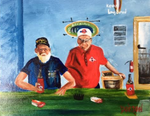 "Private Collection Of: John Thomas Winchester, Ohio ""Jim & John At Aaron's Fish Camp"" #136716 - $125 8x10"