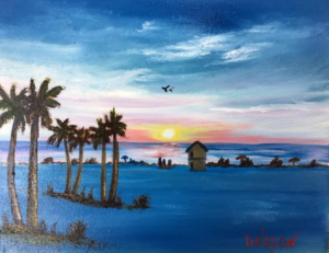 "Private Collection Of: Mark & Lisa Powers Holbrook, New Jersey ""Evening In Paradise"" #136916 $95 8x10"