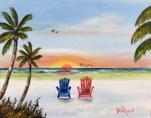 "Private Collection Of: Mary Beth Kelly Pittsburgh, Pa ""Our Sunset In Paradise"" #137116 $95 8x10"